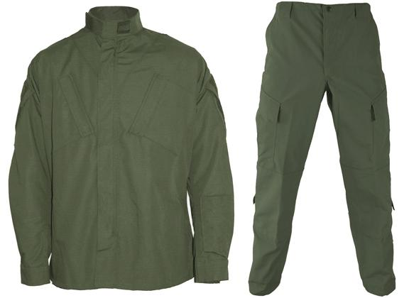 Matrix Deluxe ACU Style Combat Uniform Set - OD Green (Size: Large)