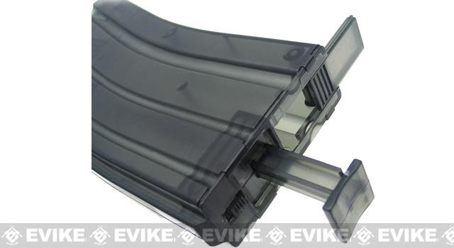 M4 Magazine Shaped 500rd BB Speed Loader - Transparent Clear