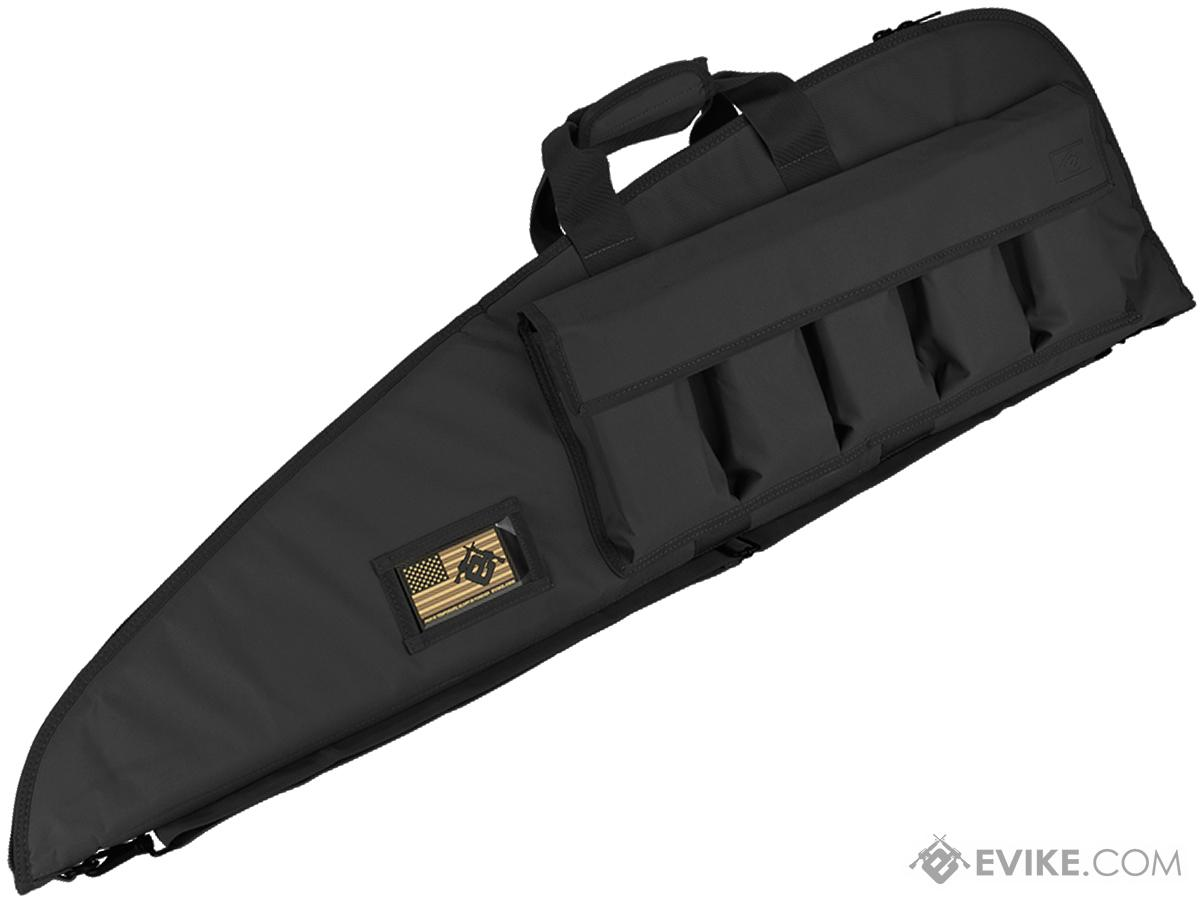 Evike.com 42 Deluxe Padded Rifle Case with External Magazine Pockets  - Black