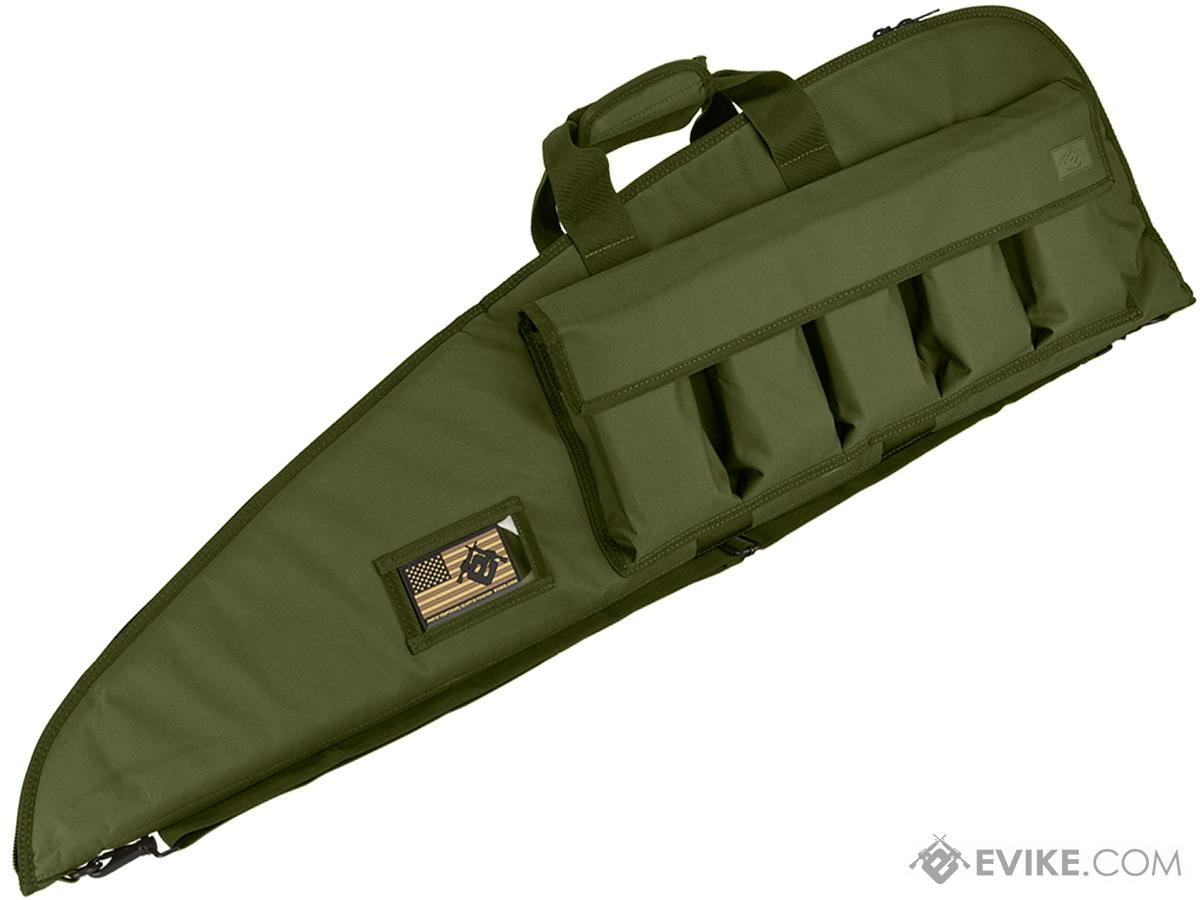 Evike.com 42 Deluxe Padded Rifle Case with External Magazine Pockets  - OD Green