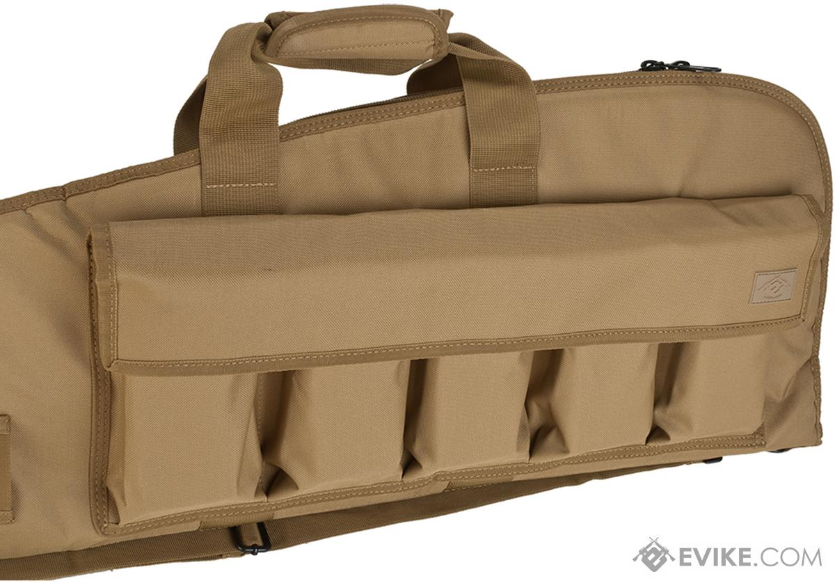 Evike.com 42 Deluxe Padded Rifle Case with External Magazine Pockets  - Tan