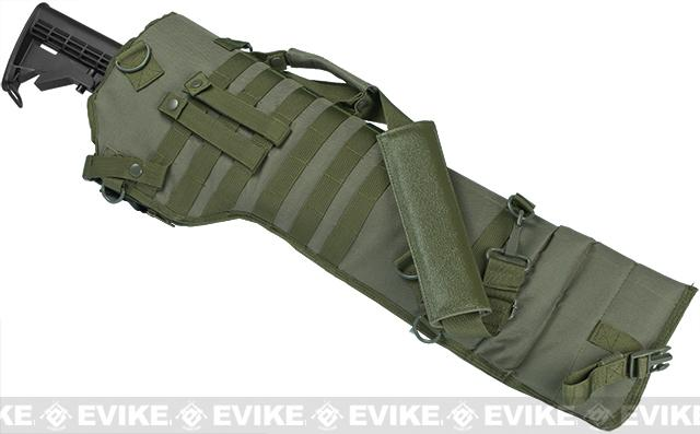 NcSTAR MOLLE Tactical Rifle / Shotgun Scabbard - OD Green