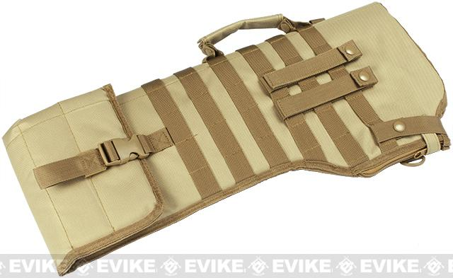 NcSTAR MOLLE Tactical Rifle / Shotgun Scabbard - Tan