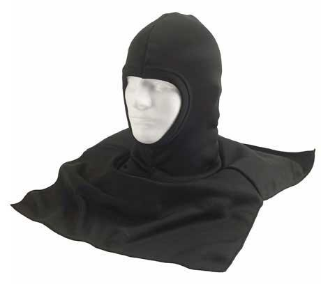 Black Polyproylene Balaclava / Dickie with shoulder / neck protection