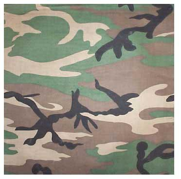 Tactical Premium Bandana - 100% cotton / Woodland Camo