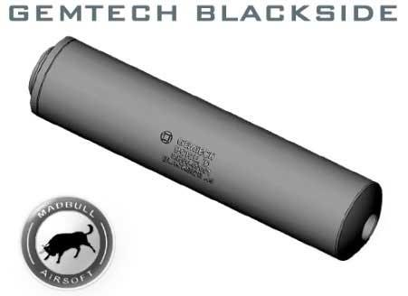 Madbull Blackside - 14mm TITANIUM Barrel Extension. (Black)