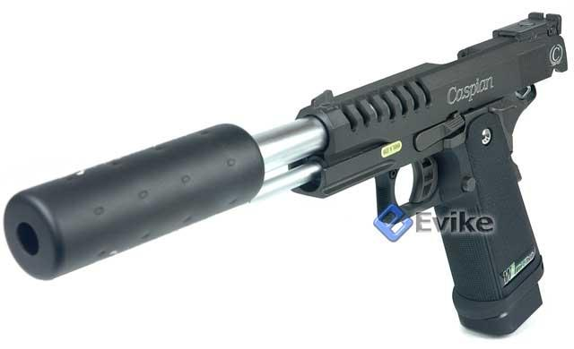 Matrix Steel Threaded Barrel for WE-Tech / WE / Marui / KJW Hi-capa 3.8 Series Gas Blowback.