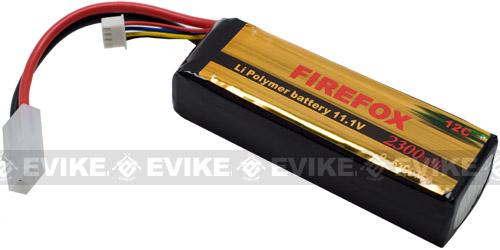 Firefox 11.1V 2300mAh High Performance Airsoft Li-Poly Battery Pack - Small Tamiya Connector