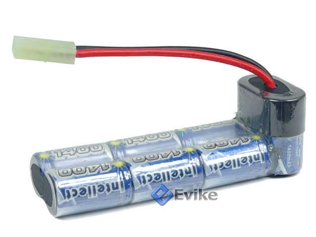 Custom Type J-Shape Intellect 9.6V 1600mAh Battery for P90 Series Airsoft AEG