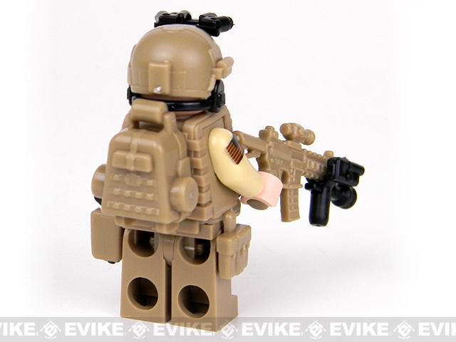Battle Brick Customs Military Mini-Figure - SEAL Team 6 Special Forces Commando