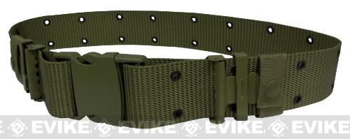Military Style Alice Sys. Quick Release Tactical Pistol Belt - OD Green