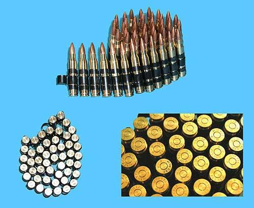 Super Realistic M249 5.56 Cartridge Belt (Fake Dummy Shell / Bullets) - set of 60