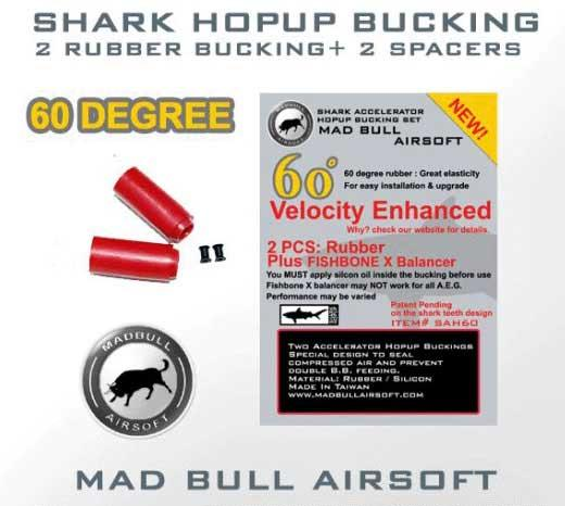 Mad Bull 60 Degree Shark Hopup Bucking x2 + Fishbone Spacer x2.