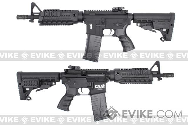 CAA Licensed Airsoft AEG Rifle by King Arms (Model: M4 CQB Black)