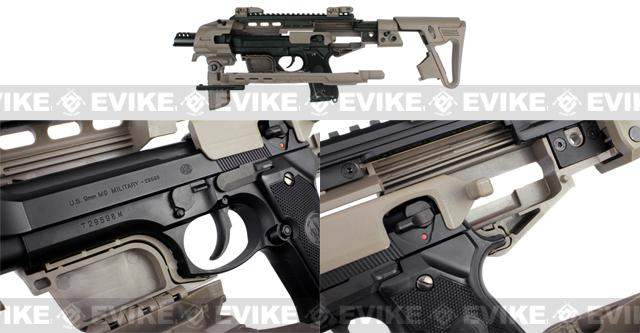 CAA Airsoft Roni Pistol Carbine Conversion Kit for Beretta M9/M9A1  Airsoft GBB Pistols - Dark Earth