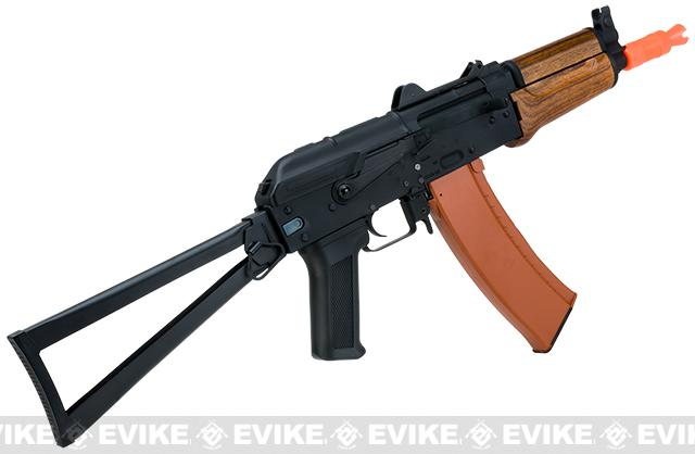 Full Metal AKS-74U / AK-74 Airsoft AEG Rifle with Imitation Wood Furniture by CYMA - (Package: Gun Only)