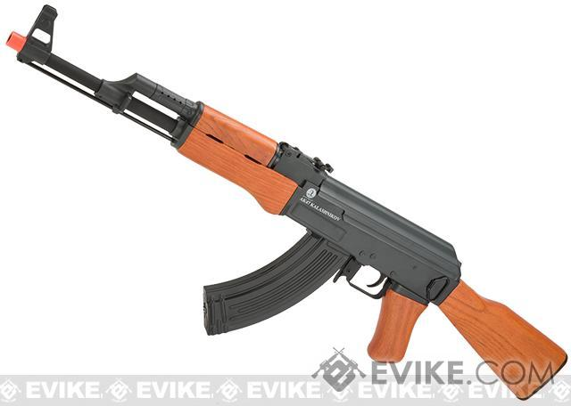 z Full Metal Licensed Kalashnikov Electric Blowback AK-47 Airsoft AEG Rifle with Real Wood Stock by CYMA