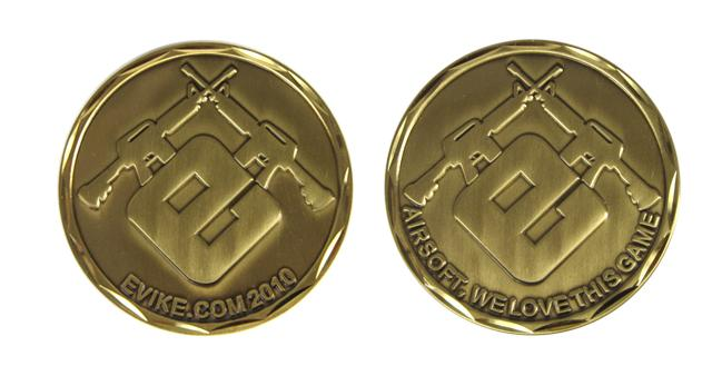 Evike.com 2010 Limited Edition Brass 50mm Collectible Challenge Coin