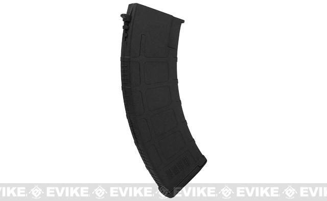Beta Project DLS 180 Round Polymer Midcap Magazines for Airsoft AK Series AEGs - Black (Set of 5)