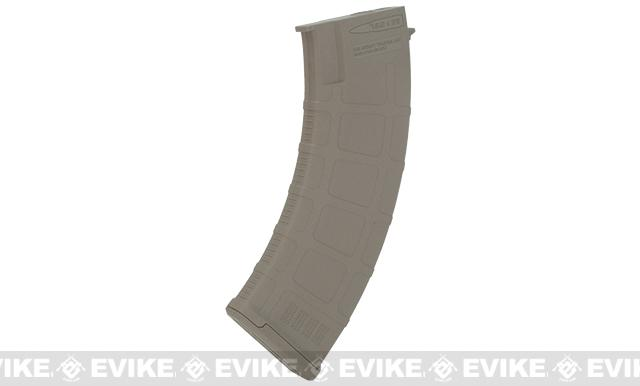 Beta Project DLS 180 Round Polymer Midcap Magazines for Airsoft AK Series AEGs - Dark Earth (Set of 5)