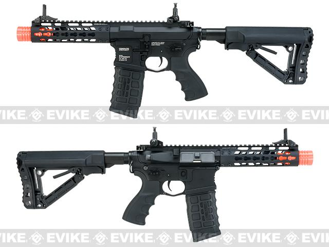 G&G GC16 Wild Hog Full Metal Airsoft AEG Rifle with 7 Keymod Rail - Black (Package: Add 9.6 Butterfly Battery + Smart Charger)