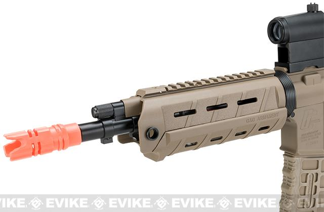 G&G GCR4 G26 Full Metal Airsoft Electric AEG Rifle - Tan (Package: Gun Only)