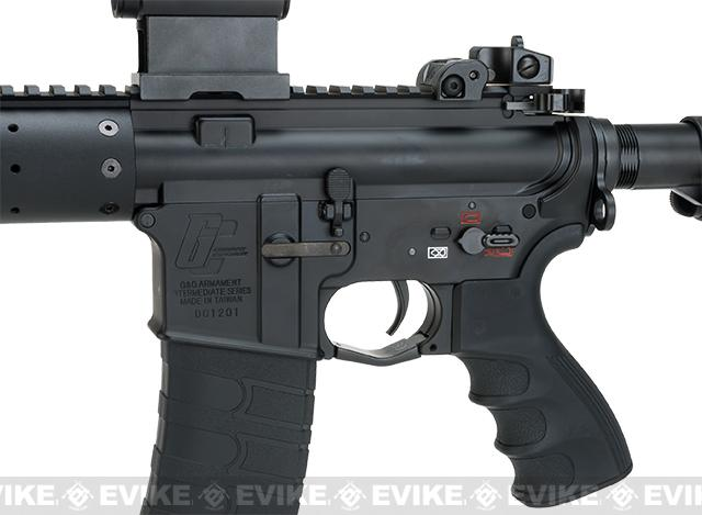 G&G GC16 12 Carbine FFR12 Airsoft AEG M4 - Black (Package: Add 9.6 Butterfly Battery + Smart Charger)