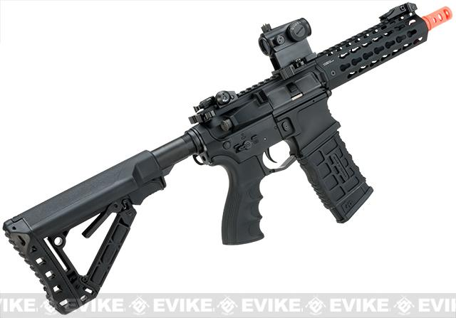G&G Combat Machine CM16 SR-CQB Airsoft M4 AEG Rifle with Keymod Rail - 7 - (Package: Add 9.6 Butterfly Battery + Smart Charger)