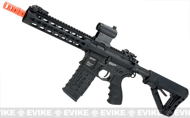 G&G GC16 Warthog Full Metal Airsoft AEG Rifle with 9 Keymod Rail - Black (Package: Add 9.6 Butterfly Battery + Smart Charger)