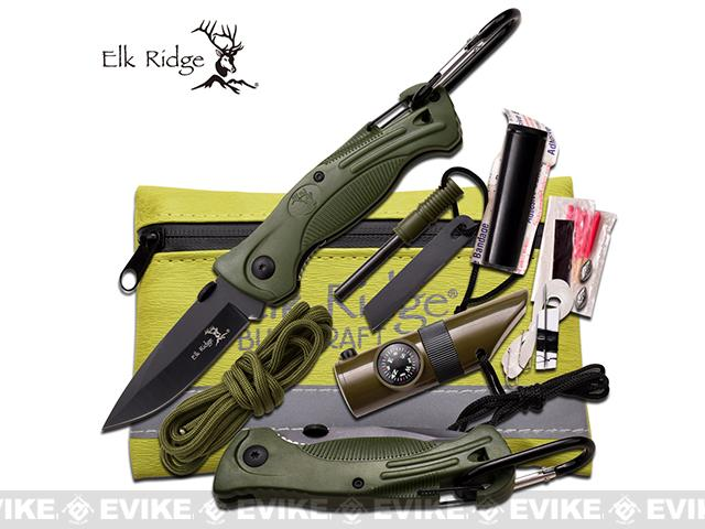 Elk Ridge Compact Survival Kit - Green