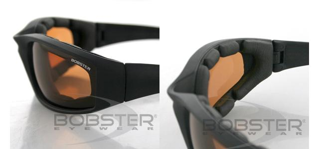 Bobster FOAMERZ II Shooting Sunglasses / Black Frame / Anti-Fog Amber / ANSI Z87