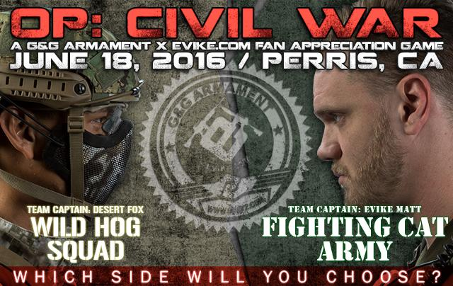 OP: Civil War (Fan Appreciation Game Sponsored by G&G Armament, 6/18 Perris, California) - Fighting Cat Army