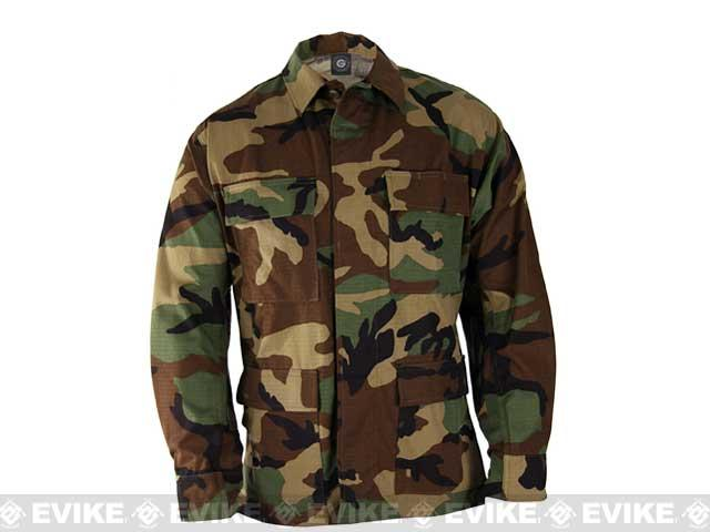 Genuine Gear BDU Coat - Woodland (Size: Small)