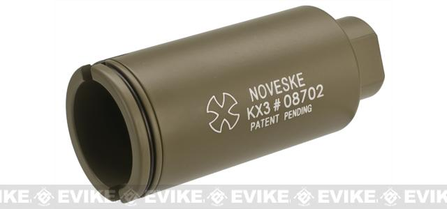 Madbull Noveske KX3 Sound Amplifier Flashhider (Color: Tan / 14mm Negative)