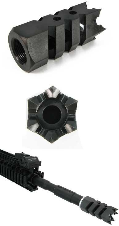 Airsoft Shark Muzzle Flashhider for Airsoft Guns (14mm Negative)