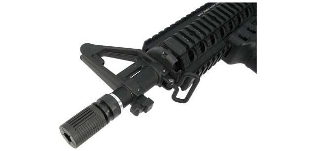 Airsoft Steel CNC SR-16 / PDW Type Flash Hider (Thread: 14mm- / Counter-Clockwise)