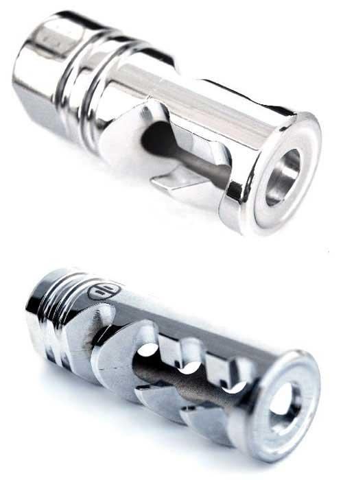 Mad Bull Chrome DNTC Compensator 14mm- / CCW Flashhider