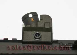 JG / Echo1 / Matrix Full Metal 614 Style Tactical Rear Sight for Picatinny R.I.S.