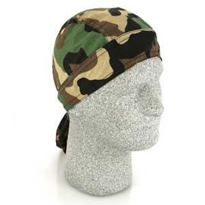 Bobster / Zan Headgear Flydanna - 100% Cotton. (Woodland Camo)
