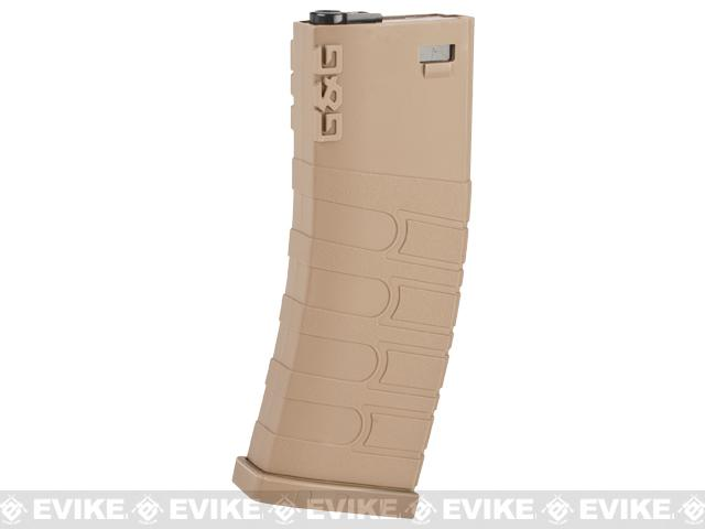 G&G 120rd Polymer Mid-cap Magazine for M4 / M16 Series Airsoft AEG Rifles - Desert Tan / Set of 5
