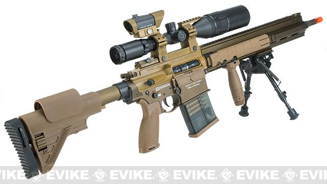 Elite Force / Umarex H&K G28 Airsoft AEG Designated Marksman Rifle by VFC - Dark Earth / Limited Edition Kit