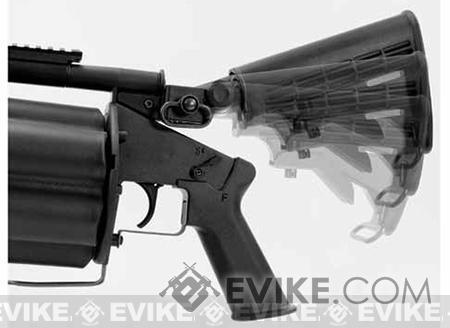 ICS MGL Full Size Airsoft Revolver Grenade Launcher - Black