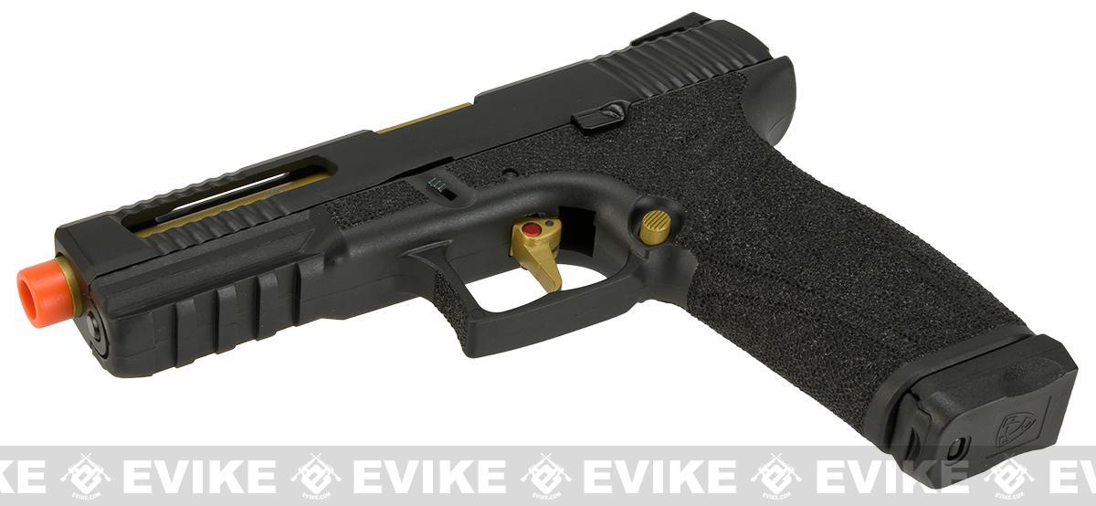 APS X-CAP Spyder Combat Adaptive Pistol CO2 Powered Airsoft Blowback Pistol - Black (D-Mod Version)