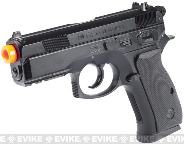 z ASG Licensed CZ75D Compact CO2 Airsoft Gas Blowback Hand Gun - Black