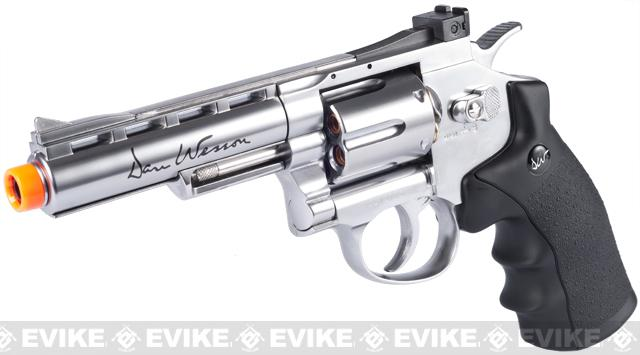 ASG Licensed Dan Wesson WG CO2 Full Metal 4 High Power Airsoft 6mm Magnum Gas Revolver (Silver)