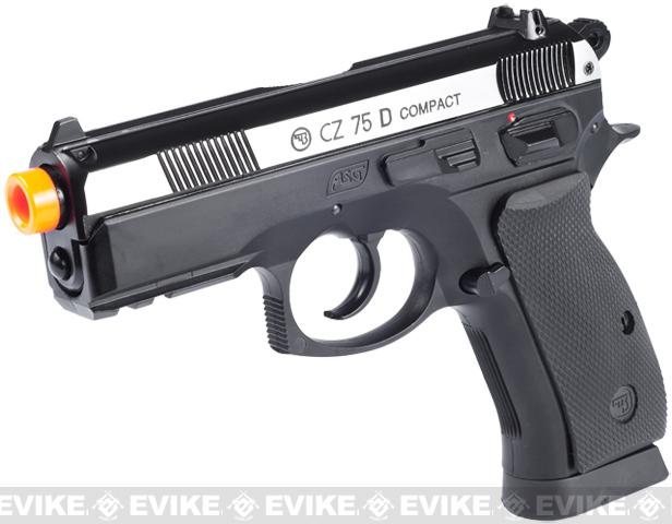 z ASG Licensed CZ75D Compact CO2 Airsoft Gas Blowback Hand Gun - Dual Tone