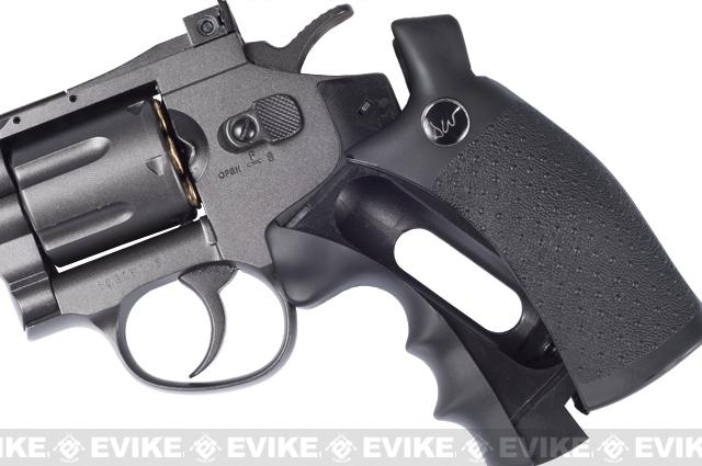 ASG Licensed Dan Wesson WG CO2 Full Metal 8 High Power Airsoft 6mm Magnum Gas Revolver (Black)