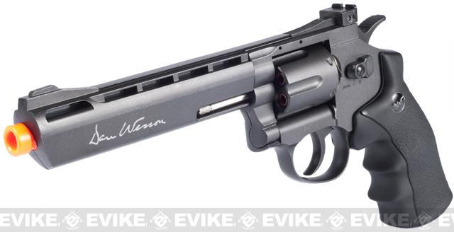 ASG Licensed Dan Wesson WG CO2 Full Metal 6 High Power Airsoft 6mm Magnum Gas Revolver (Black)