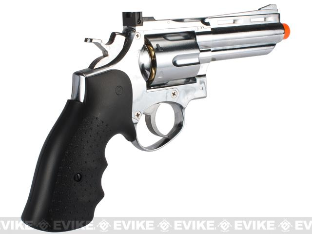 HFC 4 Bull Barrel Savage Bull Full Size Airsoft Gas Revolver - Chrome