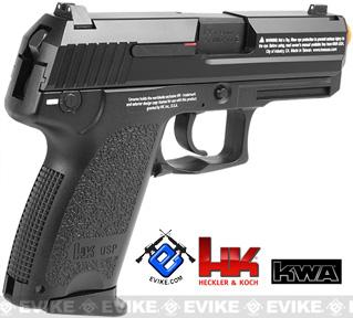 Heckler & Koch Full Metal USP Compact NS2 Airsoft Gas Blowback Gun by KWA